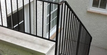 Picket Style Wrought Iron Railing