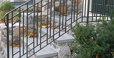 Craftsman Style Wrought Iron Railing